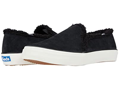 Keds Double Decker Suede Shearling (Black) Women
