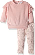 Splendid Girls' Kids and Baby Long Sleeve Sweatshirt and Bottom 2 Piece Set