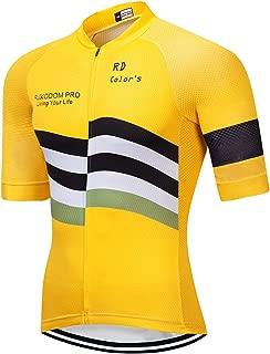 RUIKODOM Men's Cycling Jersey Full Zip Short Sleeve Biking Bicycle T Shirts 2018 Designs Men's Bike Clothing Cycling Tops