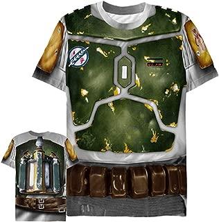 Star Wars Men's Bounty Hunter Boba Fett Costume All-Over Print T-Shirt