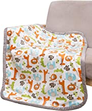 Breathable Baby Blanket Safari Print Fleece Best Registry Gift for Newborn Soft- Perfect for Prince and Princess 30