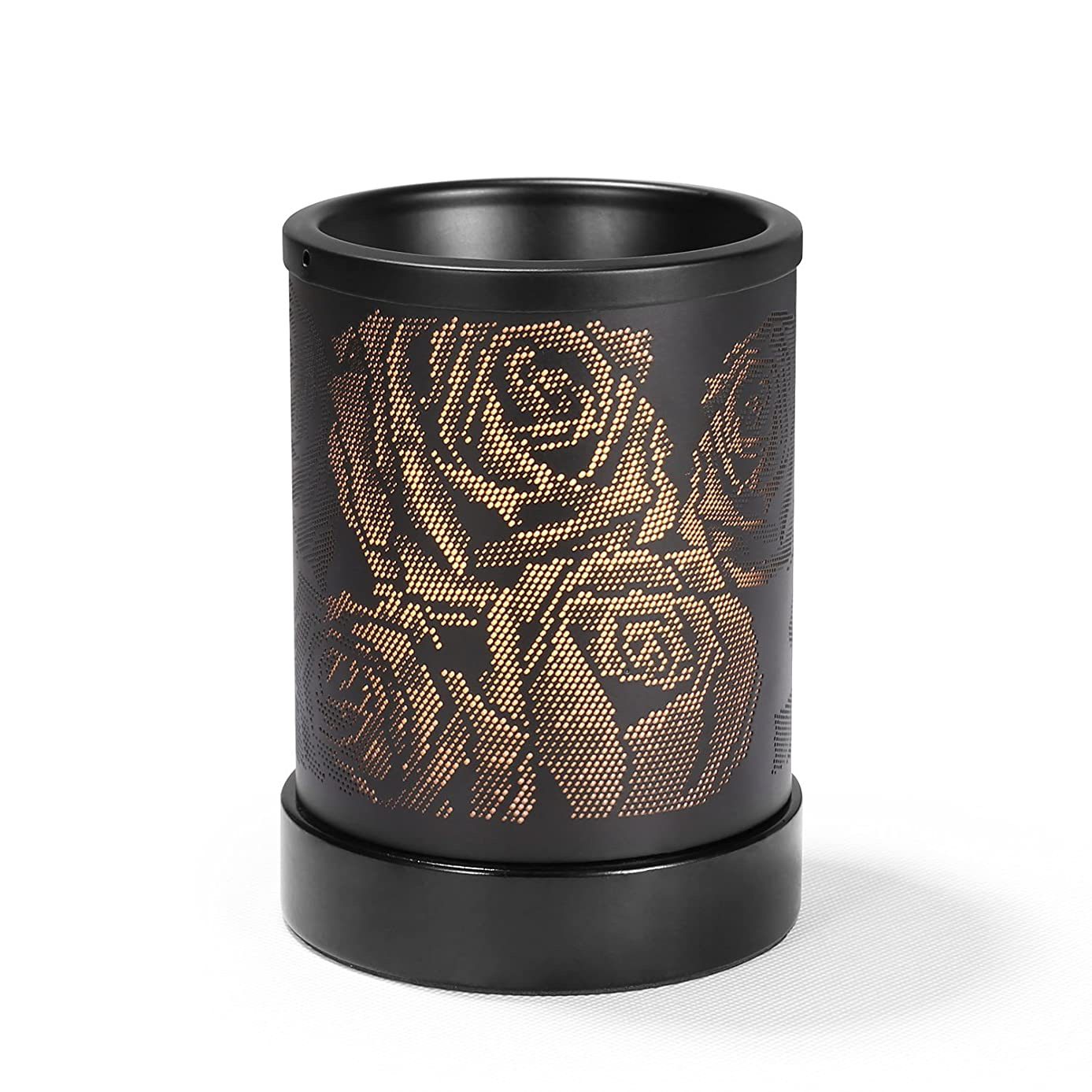Foromans Scent Wax Melts Warmer Black Rose Style Fragrance Oil Warmer Lamp for Home Décor