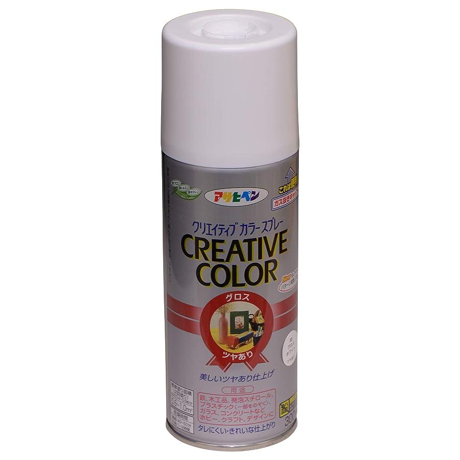 詳細な油ハチアサヒペン クリエイティブカラースプレー 300ML 85グロスホワイト