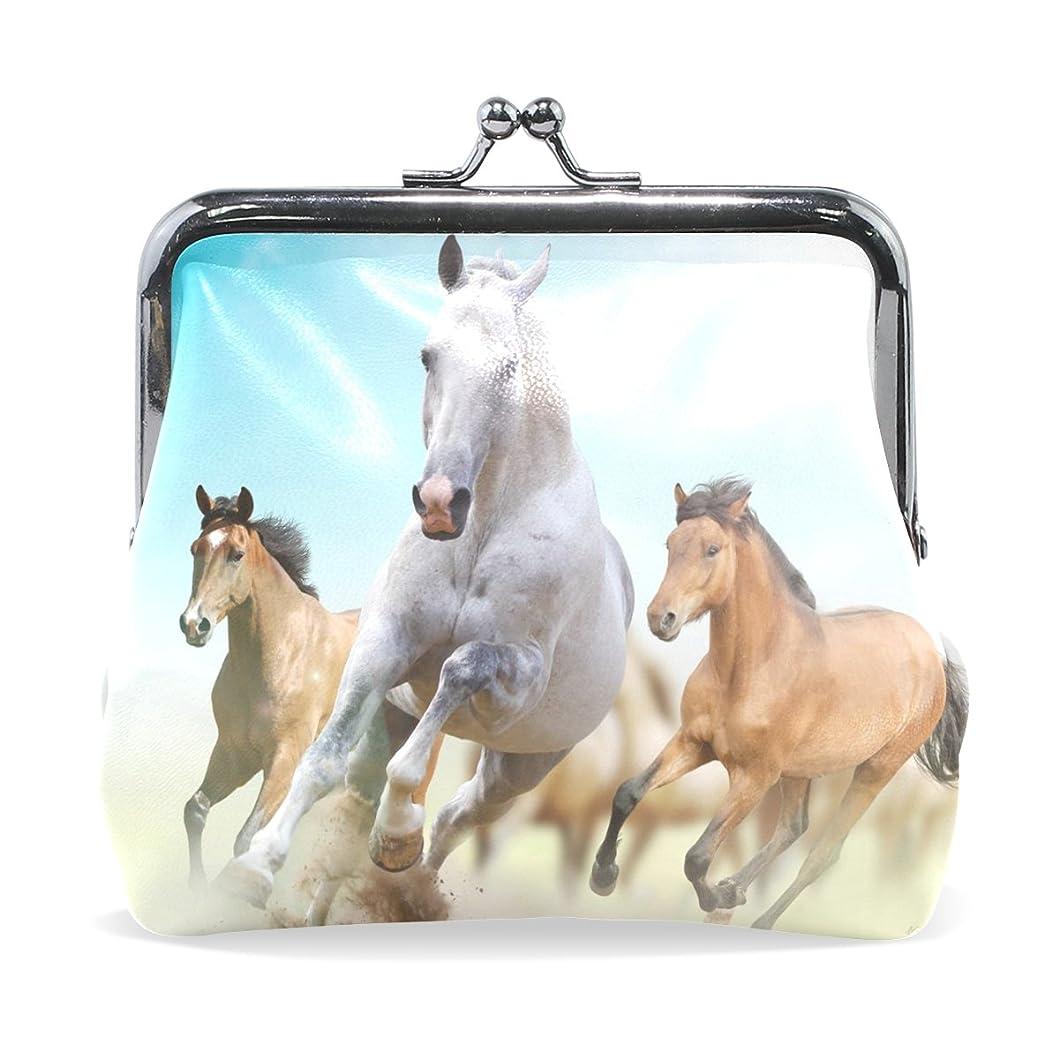 セッティング拷問機知に富んだGORIRA(ゴリラ) 走れ集団の馬 超繊レザー&木綿 人気財布 ブランド がま口式小銭入れ ミニがま口