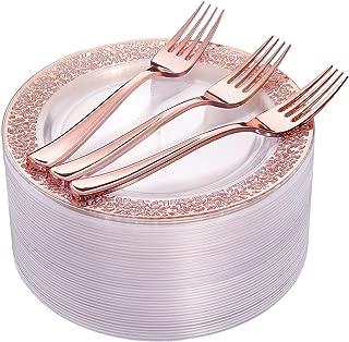 Best rose gold plastic dessert plates Reviews