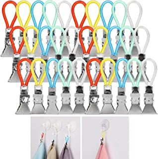 AKWOX (30-Pack Kitchen Towels Clip, Tea Towel Holder Clips,Cloth Hook Clip Hangers for Home Kitchen Bathroom Cupboards Han...