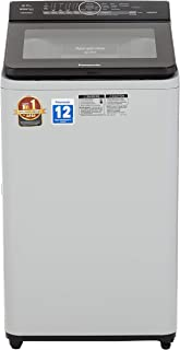 Panasonic 6.7 kg Built-in Heater Fully-Automatic Top Loading Washing Machine (NA-F67AH8MRB,Middle free silver, Advanced Active Foam Wash) with Built in Heater, Water Reuse