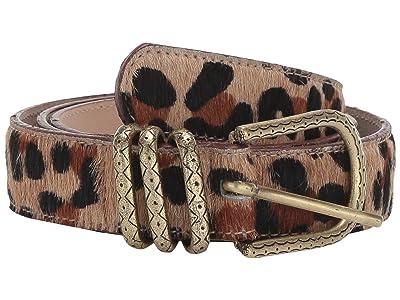 Leatherock Erin Belt (Hair Jaguar) Women
