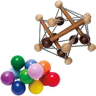 Manhattan Toy Artful Skwish Rattle and Classic Baby Beads Motor Skill Development Set