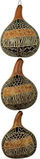 Authentic African Calabash/Gourd Wall Hanging (3 Piece Set - Hand Made in Kenya)
