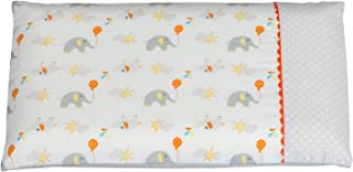 ClevaMama Pram Pillow Case, Replacement in 100% Soft Cotton - Multicolor (Elephant), 22x31 cm, 7816