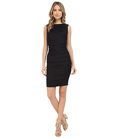 Nicole Miller Lauren Stretch Linen Dress (Black) Women