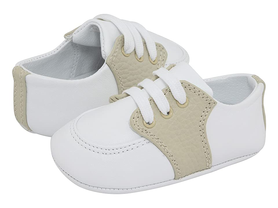 Baby Deer Conner-4176DTB (Infant) (White/Tan) Boys Shoes