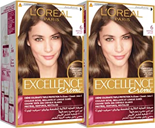 L'Oréal Excellence Crème 6, 192 ml (Pack of 2)