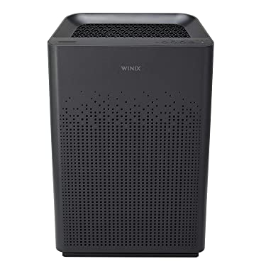 Winix AM80 True HEPA Air Purifier with Washable Advanced Odor Control (AOC) Carbon Filter, 360sq ft Room Capacity, Dark Grey, Large