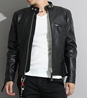 【本革】革ジャン メンズ シングルライダースレザージャケット フリーダムレザー pb-1107