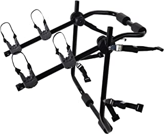 OxGord 2-Bike Rack Trunk Mount - Deluxe Bicycle Carrier for Most Sedans/Hatchbacks/Minivans and SUVs - Holds Two Cycles
