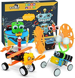 POKONBOY 4 Sets DIY Science Experiment Kits for Kids, Electric STEM Motor Robotics Engineering Circuits Chemistry Kits for...