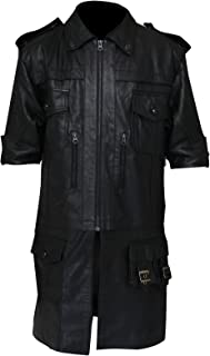 NMFashions Men's Black Final Biker XV Noctis Hi-Quality Lucis Leather Fantasy Jacket