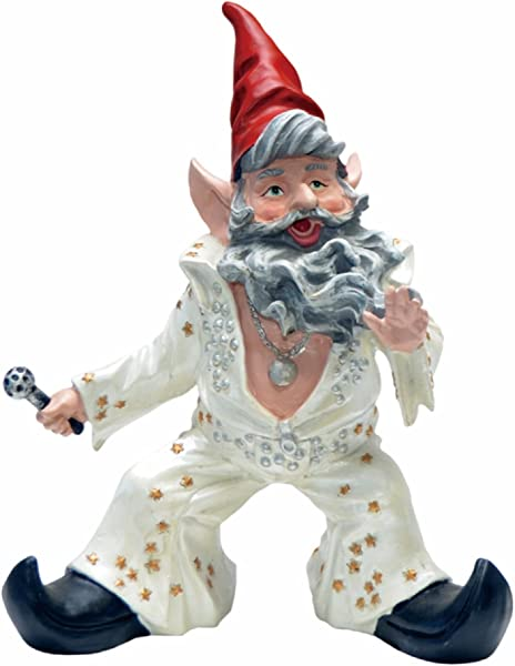 Nowaday Gnomes Elvis Vegas The Gnome The King Of Rock N Roll In His Classic Jumpsuit Collectible Home Garden Gnome Statue 14 H