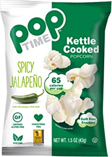 POP Time Kettle Corn, Spicy Jalapeno - 1.5 OZ (Pack of 24) Mouthwatering!