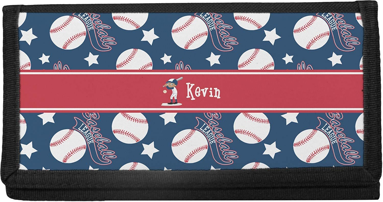 Baseball Canvas Checkbook Cover New Free Shipping Max 52% OFF Personalized