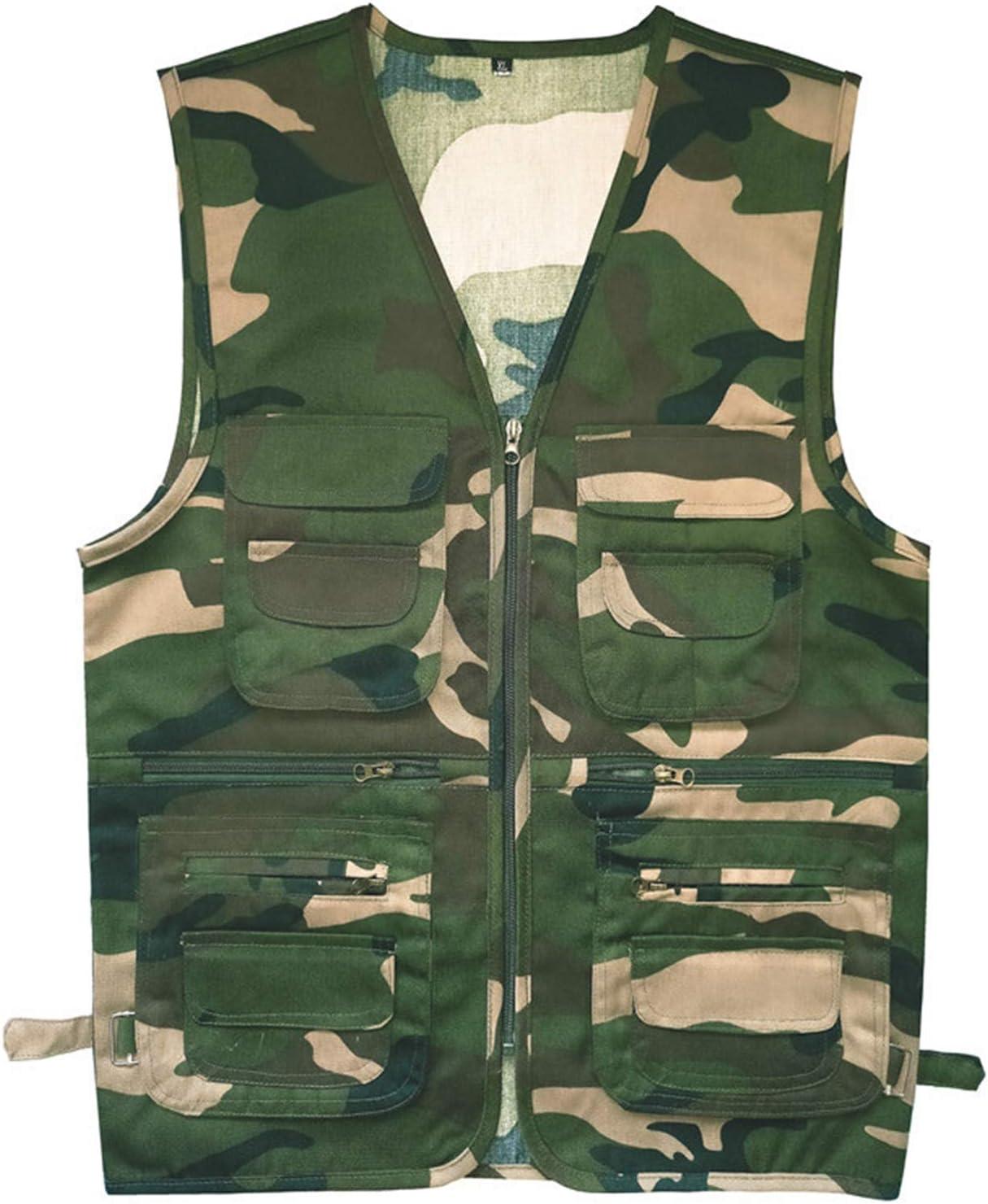 CNBPLS Men's Active Wear Outdoor Vests,Multi-Pocket Middle-Aged and Elderly Vest,Work Fishing Travel Utility Tank Tops,7,2XL