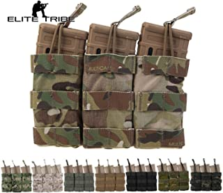 Elite Tribe Airsoft Molle Magazine Pouch Tactical Modular Triple Mag Pouch