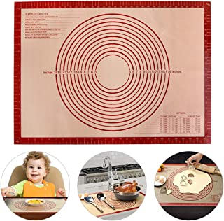 Silicone Pastry Mat Baking Mat with Measurements, Non-Stick Silicon Liner Bread Kneading Board, Dough Pie Rolling Mat, Oven Liner, Extra Large Non-slip Counter Mat, 28 x 20 Inch