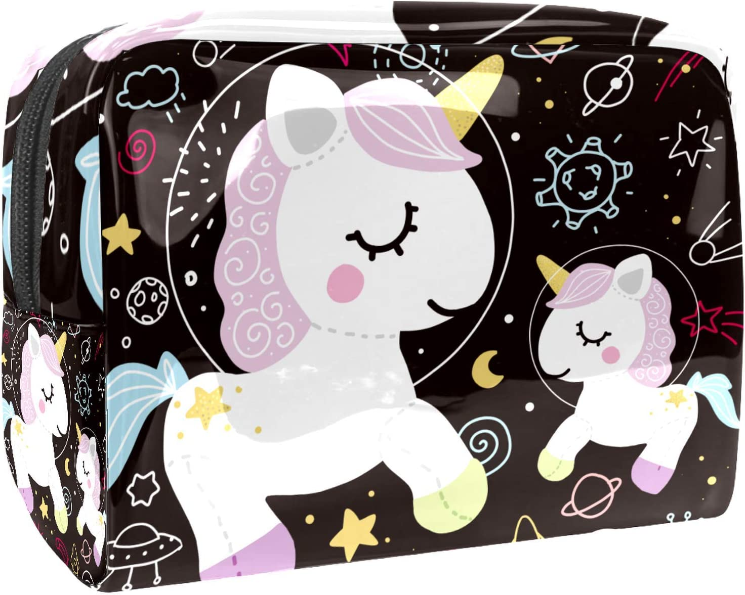 Sale item Cosmetic Bag for Women Roomy Makeup Space Pla Magic shopping Unicorn Bags