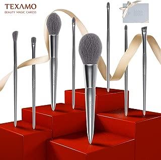 TEXAMO Makeup Brush Set 8 Pcs, Professional Premium Synthetic Cosmetic Brushes Kit, Sturdy Storage Box