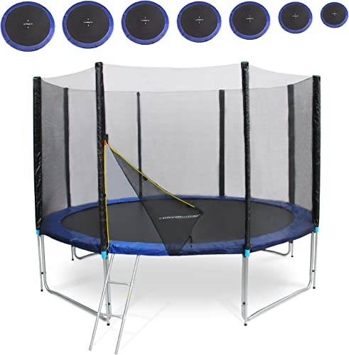 Physionics Gartentrampolin Set Kindertrampolin Set in sieben Grün Intertek GS