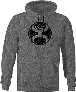 HOOEY Men's Grey 2.0 Logo Hooded Sweatshirt Heather Grey Small