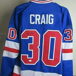 Team USA JIM CRAIG Autographed/Signed Hockey Jersey