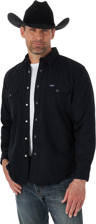 Wrangler Men's Flannel Lined Work Shirt