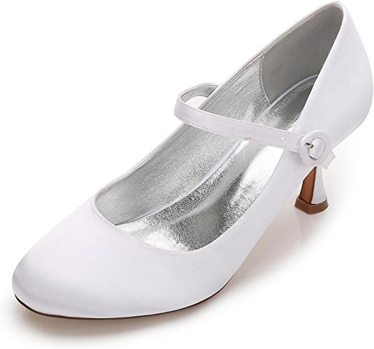 Elegant high chaussures Femmes F17061-27 Ahommede Toe Talons Hauts Satin Party Court Chaussures de Mariage Personnalisé