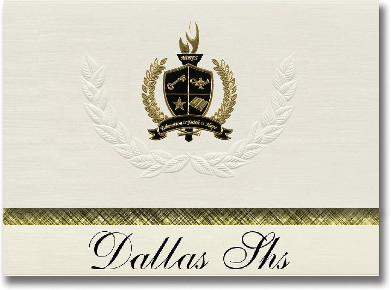 Signature Ankündigungen Dallas SHS (Dallas, PA) Graduation Ankündigungen, Presidential Stil, Elite Paket 25 Stück mit Gold & Schwarz Metallic Folie Dichtung B078VD8VM7   | Sonderaktionen zum Jahresende
