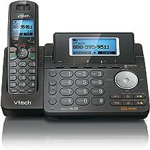 $98 » VTech DS6151-11 DECT 6.0 2-Line Expandable Cordless Phone, Black