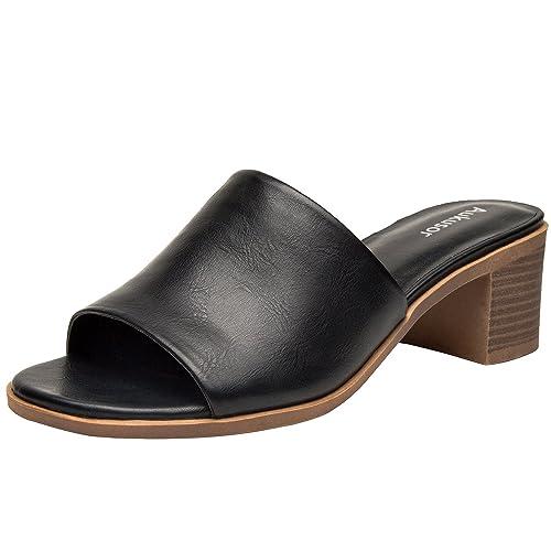 dca346123f9 Aukusor Women s Wide Width Flat Sandals - Flip Flop Open Toe T-Ankle Strap  Flexible