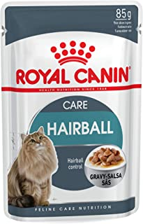 Royal Canin FCN Hairball Gravy Wet Food Pouches Box of 12x85g Feline Breed Nutrition Cat Food