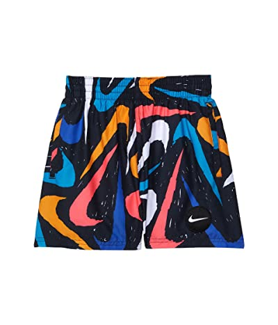 Nike Kids Marker Swoosh 4 Volley Shorts (Little Kids/Big Kids)
