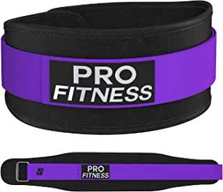 ProFitness Weight Lifting Belt for Women (4 Inchs Wide) - Comfortable & Durable Weightlifting Workout Belt - Great Lower B...