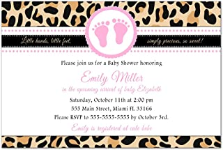 Best baby shower invitations leopard print Reviews