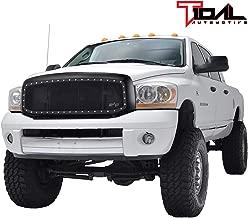 Tidal Rivet Black Steel Mesh Replacement Grille Fit for 06-09 Dodge Ram 1500/2500/3500 Grille