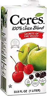 Ceres 100% All Natural Pure Fruit Juice Blend, Secrets of the Valley - Gluten Free, Rich in Vitamin C, No A...