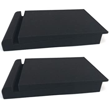 2 Pack Acoustic Isolation Pads, Studio Monitor Speaker Isolation Foam Pads, Pair of Two High Density Studio Monitor Isolation Pads Pair For 5 Inch Monitors