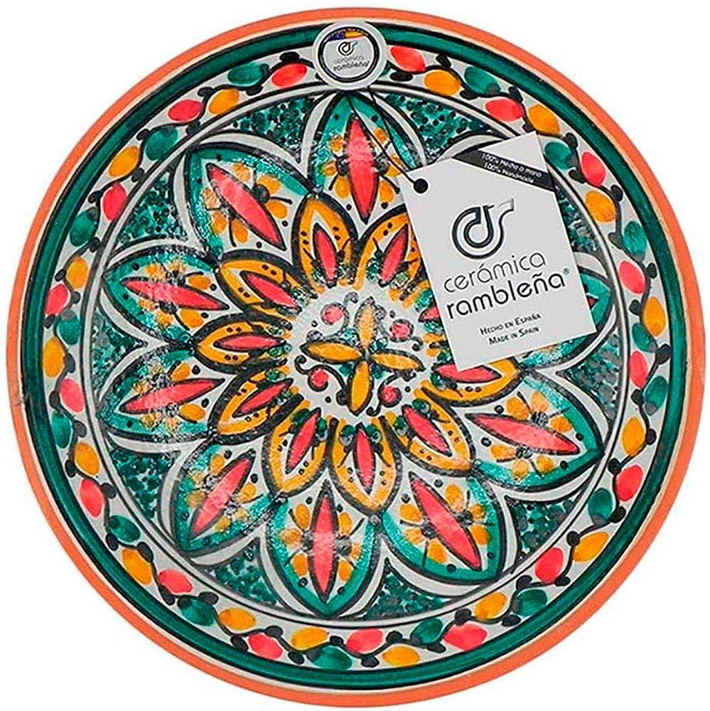 Ceramica rambilena   piatto decorativo da appendere a parete , in ceramica , 100% fatto a mano 22030201040402