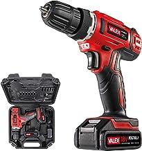 Valex 1429387 - Taladro atornillador a batería de litio 18 V FAMILY-TECH 218, en maletín, 0-650 rpm, 2 baterías incluidas, rojo, 3/8 pulgadas