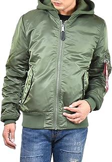 (アルファ インダストリーズ)ALPHA INDUSTRIES INC ma-1 メンズ フード付き 冬 ジャケット ストリート ブランド ブルゾン 袖リブ 無地 アメカジ ap-ta0130