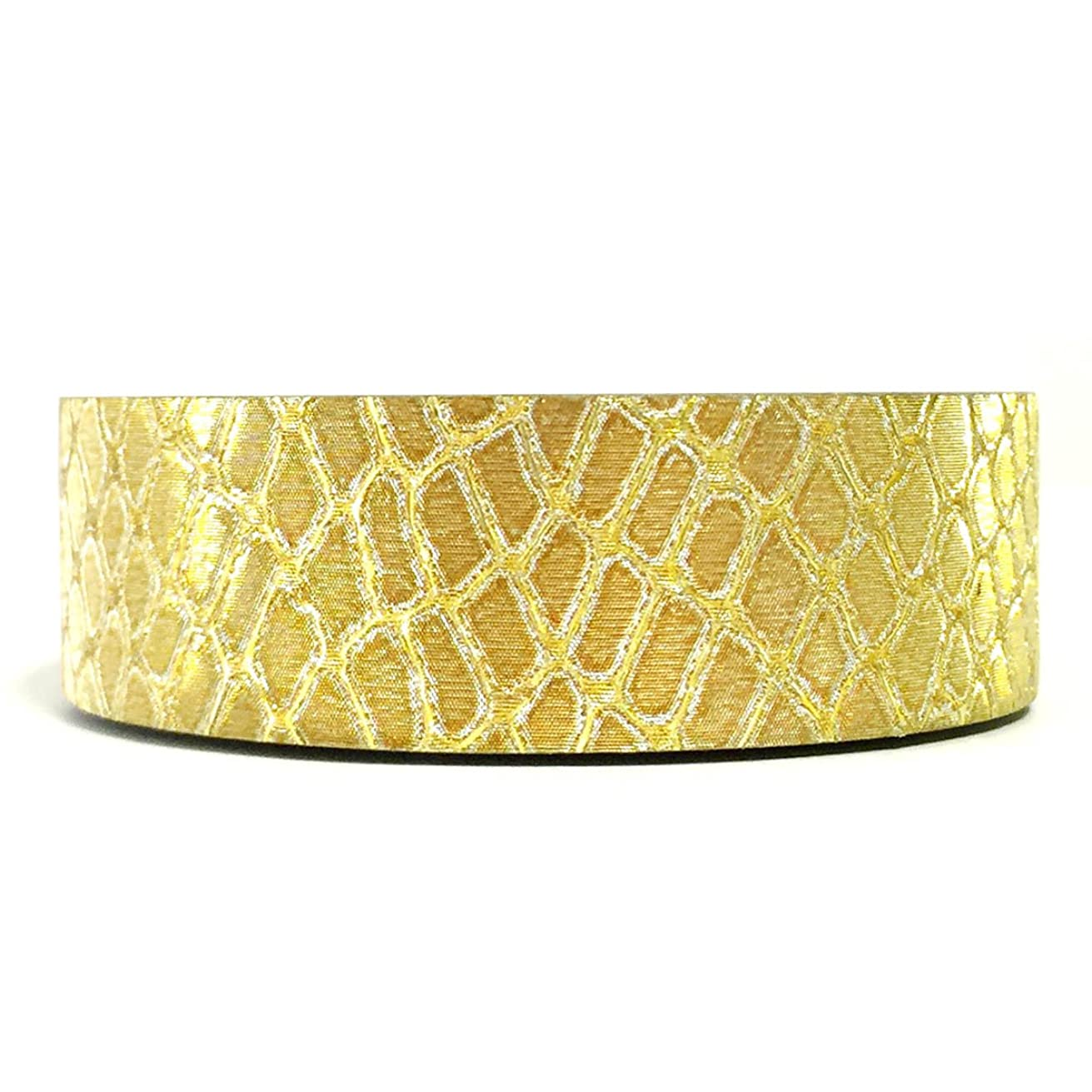 Allydrew Decorative Washi Masking Tape, Shiny Gold Snake Print